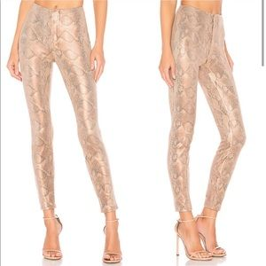 MOTHER DENIM Seamless Looker Snakeskin Jeans